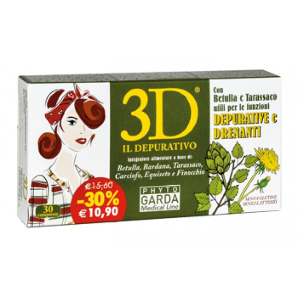 3D DRENA DEPURA 30CPR PHYTO