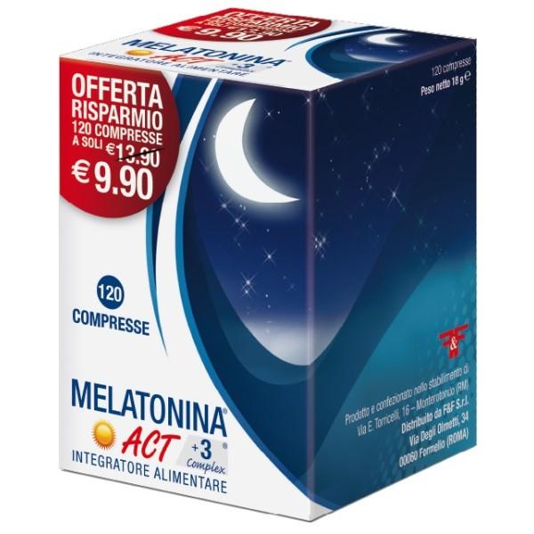 MELATONINA ACT+3 COMPLEX120CPR