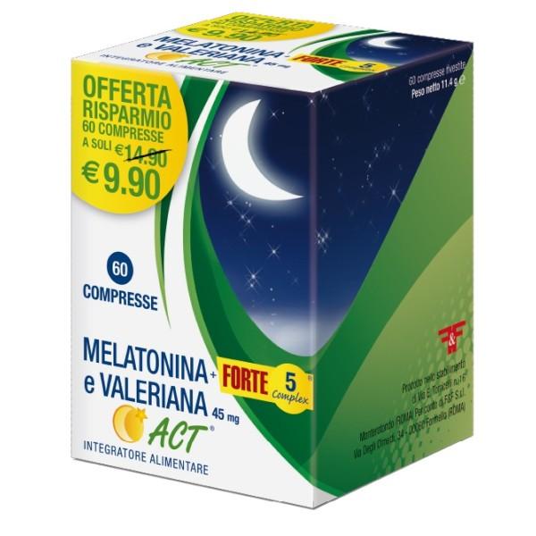 MELATONINA ACT+FT 5+VAL 60CPR