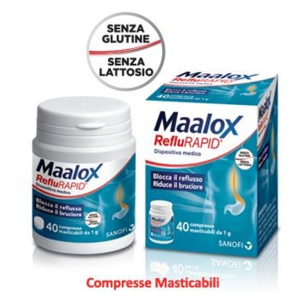 MAALOX REFLURAPID 40CPR MAST