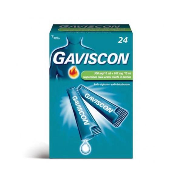 GAVISCON*24BUST 500+267MG/10ML -------DATA SCAD. 01/2023